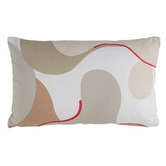 Подушка декоративная из хлопка бежевого цвета с авторским принтом из коллекции Freak Fruit, 30х50 см Tkano TK20-CU0006