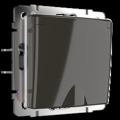 Розетка влагозащ. с зазем. с защит. крышкой и шторками  (серо-коричневый) WL07-SKGSC-01-IP44 Werkel