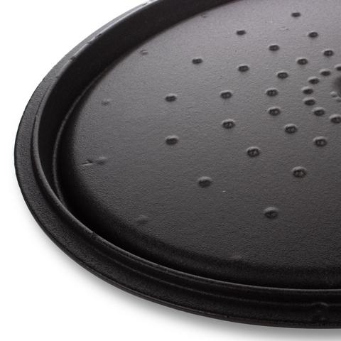 Кастрюля чугунная, овальная, 31см (6,0л) INVICTA Noir mat арт. 403311