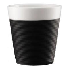 Набор кружек Bodum Pavina с силиконовым ободком 0,17 л. 2 шт. черный 11581-01