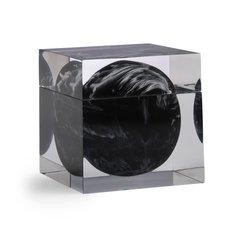 Косметическая емкость Kassatex Ducale Black ADE-CJ-BW