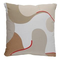 Подушка декоративная из хлопка бежевого цвета с авторским принтом из коллекции Freak Fruit, 45х45 см Tkano TK20-CU0001