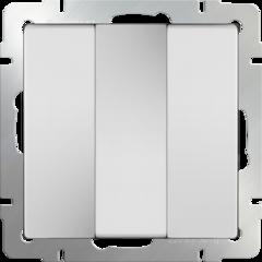 Выключатель трехклавишный (белый) WL01-SW-3G Werkel