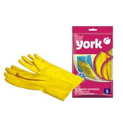 Перчатки хозяйственные резиновые, размер (S) York 092030