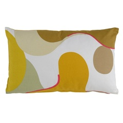 Подушка декоративная из хлопка горчичного цвета с авторским принтом из коллекции Freak Fruit, 30х50 см Tkano TK20-CU0007