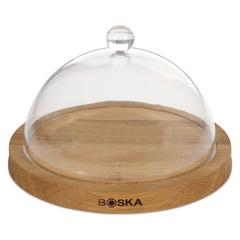 Блюдо для сыра с крышкой Boska 25см (дуб, пластик) BSK859002