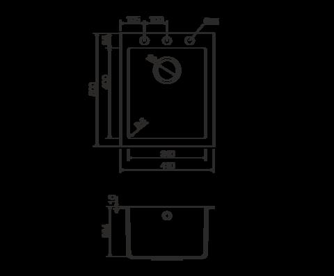 Кухонная мойка из искусственного гранита (Tetogranit) OMOIKIRI Bosen 41-СH (4993243)