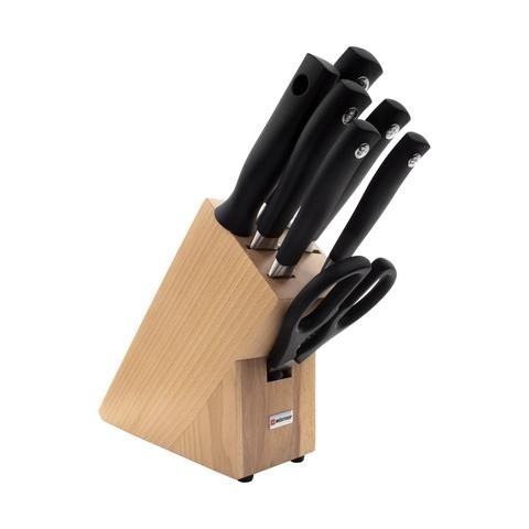 Набор из 5 кухонных ножей, кухонных ножниц, мусата  и подставки WUSTHOF Grand Prix арт. 9851-2