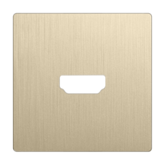 Накладка для розетки HDMI (шампань рифленый) WL10-HDMI-CP Werkel