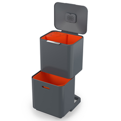 Контейнер для мусора с двумя баками Totem Max 60 л графит Joseph Joseph 30062