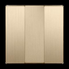 Набор клавиш для выключателя трехклавишного (шампань рифленый) WL10-SW-3G-CP Werkel