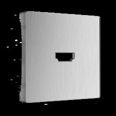 Накладка для розетки HDMI (серебряный рифленый) WL09-HDMI-CP Werkel