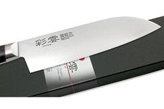 Нож кухонный Сантоку 170мм Kanetsugu Saiun Damascus (9003)