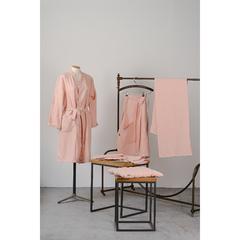 Подушка стеганая на стул из умягченного льна розово-пудрового цвета из коллекции Essential, 40х40 см Tkano TK19-CP0005