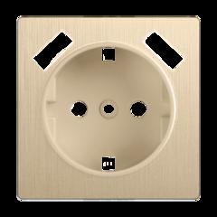 Накладка  для розетки USB (шампань рифленый) WL10-USB-CP Werkel