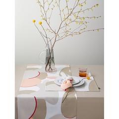 Дорожка на стол из хлопка бежевого цвета с авторским принтом из коллекции Freak Fruit, 45х150 см Tkano TK20-TR0009