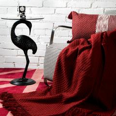 Покрывало вафельное бордового цвета из коллекции Essential, 180х250 см Tkano TK19-BS0002
