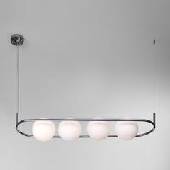 Подвесной светильник со стеклянными плафонами Eurosvet Ringo 50089/4 хром