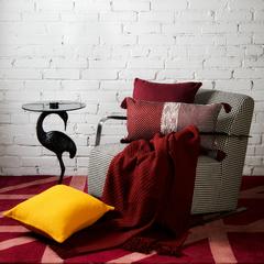 Покрывало вафельное бордового цвета из коллекции Essential, 230х250 см Tkano TK19-BS0004