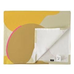 Дорожка на стол из хлопка горчичного цвета с авторским принтом из коллекции Freak Fruit, 45х150 см Tkano TK20-TR0010