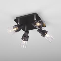 Потолочный светильник с поворотными плафонами Eurosvet Potter 20081/4 черный