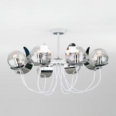 Люстра в стиле лофт с поворотными рожками Eurosvet Amato 70110/8 белый