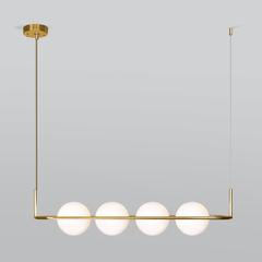 Подвесной светильник со стеклянными плафонами Eurosvet Ringo 50089/4 золото