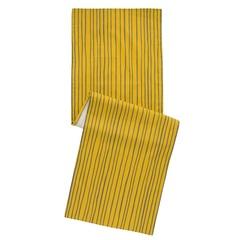 Дорожка на стол из хлопка горчичного цвета с принтом Полоски из коллекции Prairie, 45х150 см Tkano TK20-TR0008