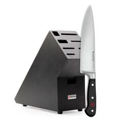 Подарочный набор: кухонный Шеф нож 20см WUSTHOF Classic и черная подставка арт. 9838-99