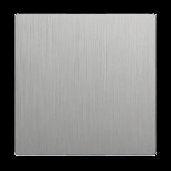 Клавиша для выключателя перекрестного (серебряный рифленый) WL09-SW-1G-C-CP Werkel