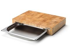 Блок мясника Continenta с метал. вставкой-подносом, цвет натуральный 42994