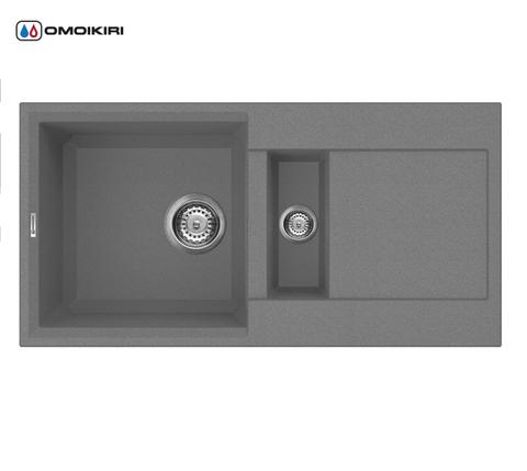 Кухонная мойка из искусственного гранита (Tetogranit) OMOIKIRI Sakaime 86-2-PL (4993203)