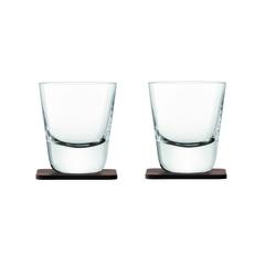 Стакан Arran Whisky с деревянной подставкой  2 шт. LSA G1212-09-301