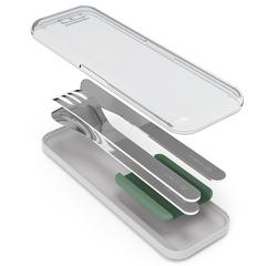 Набор столовых приборов в футляре MB Slim Box, зеленый, 3 шт. Monbento 50300044