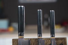 Комплект из 3 ножей Samura Damascus и подставки